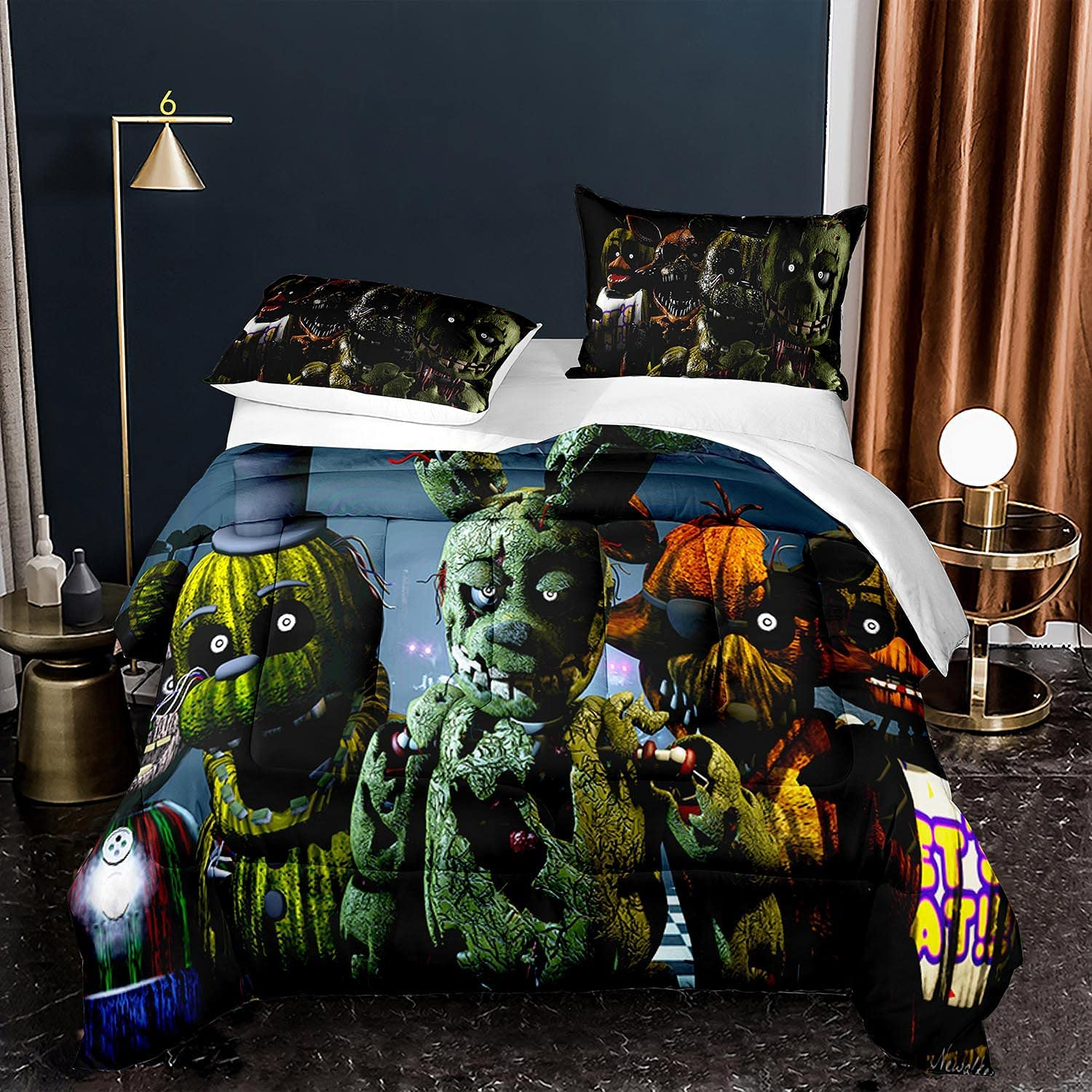 SOEWBBER Industry No. 1 Five Nights 2021 autumn and winter new at Freddy's Bedding Twin Size Cartoon Set A