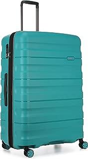 Antler Juno 2 4W Large Roller Suitcase Hardside, Teal, 81cm
