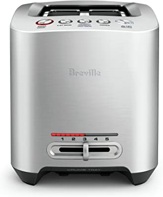 Breville Smart Toaster, Brushed Stainless Steel BTA825BSS