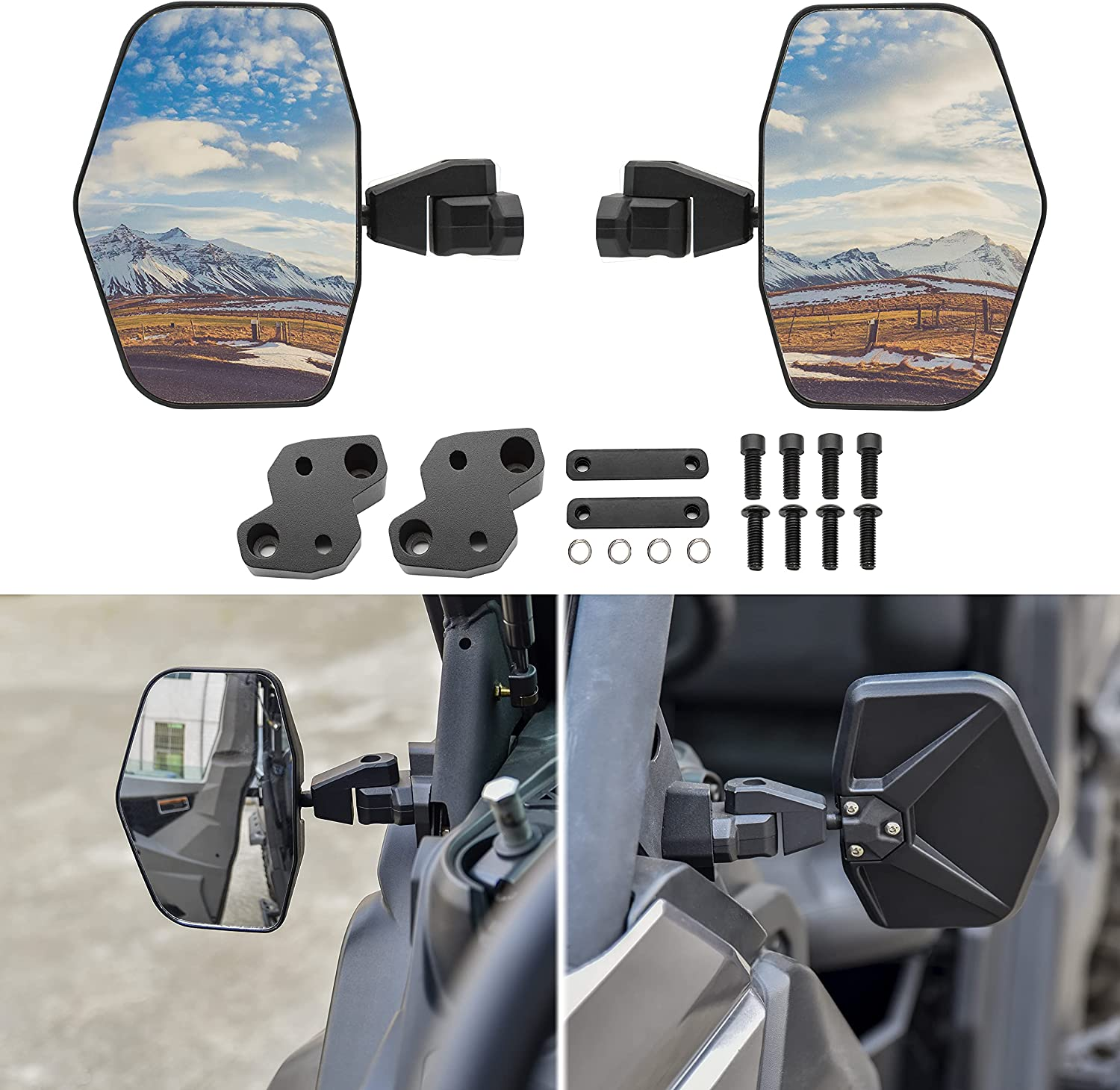 SAUTVS Wider Ajustable Aluminum Shell for 保障 代引き不可 Side Mirrors Rear View