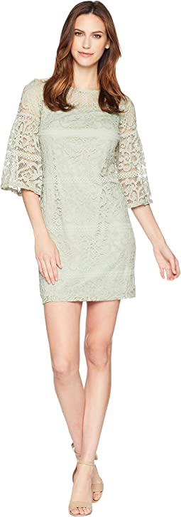 Bell Sleeve Lace Shift