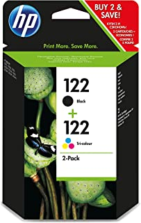 HP 122 2-pack Ink Cartridge, Black and Tri-color - CR340HE