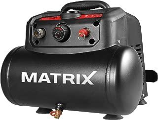 Matrix 240100155Kawasaki Compresor, aire compresor, 1200W, motor, 8bar, depósito de 6L, portátil, 180L/min, para taller, tiempo libre y Hobby