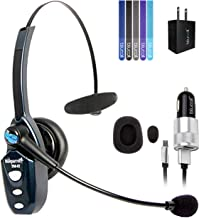 VXi BlueParrott B250-XT Bluetooth Headset with 85% Noise Cancellation Bundle with Blucoil USB Wall Adapter, Charger with Micro USB Adapter and 5-Pack of Reusable Cable Ties