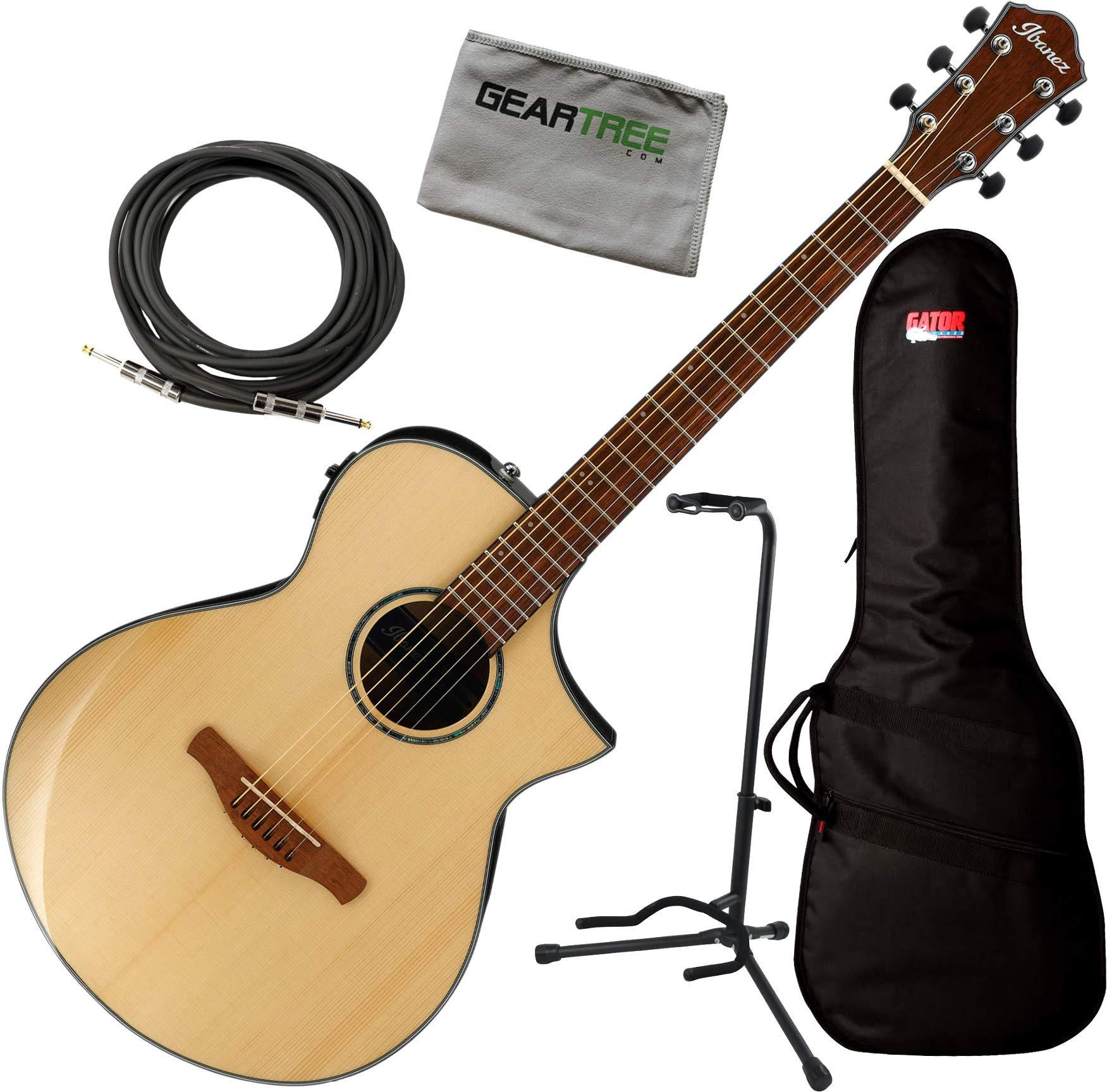 Ibanez AEWC300NT - Guitarra acústica y eléctrica (brillante ...