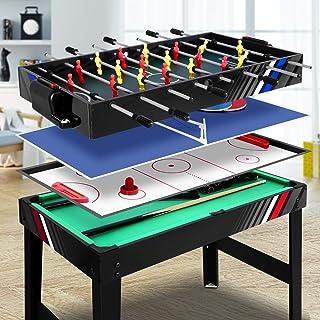 Soccer Table 4 in 1 Multi Games Foosball Table Football Ice Air Hockey Tennis Table Snooker Pool Game Family Party Kid Bir...