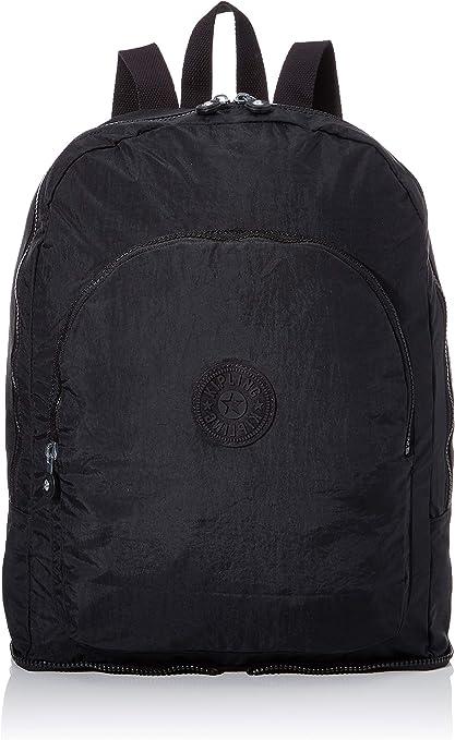 Kipling EARNEST Bolsa de tela y playa, 43 cm, 20 litros, Negro (True Black)
