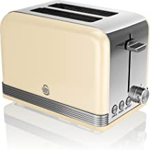 Swan ST19010CN 2-Slice Retro Toaster, 815 W, Cream