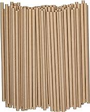 Kraft Paper Drinking Straws [200 Pack] 100% Biodegradable & Ink-free