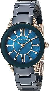 Women's AK/2388RGNV Swarovski Crystal Accented Navy Blue Ceramic Bracelet Watch
