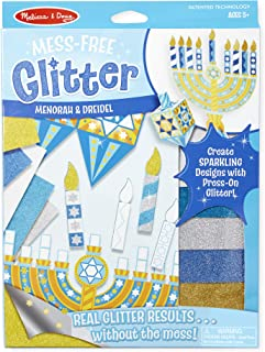 Melissa & Doug Mess-Free Glitter Menorah and Dreidel