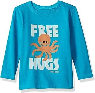 T Long Sleeve Toddler Tee Free Hugs Clturq T-Shirt,