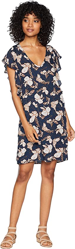 Ramo Floral Print Ruffle Dress