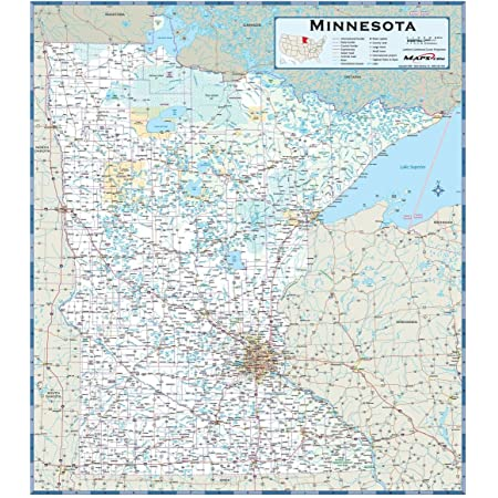 Dark Brown Color Splash Minnesota Map Poster