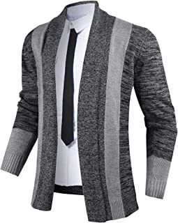 iClosam Mens Cardigans Open Front Shawl Collar Sweater Winter Outwear Top