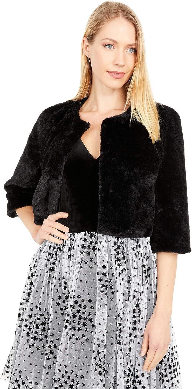 Betsey Johnson Faux Fur Shrug Coat
