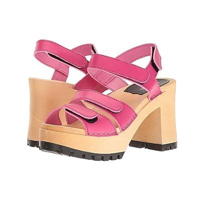 Swedish Hasbeens Velcra (Neon Pink) High Heels