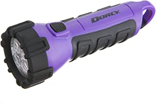 Dorcy 41-2510 Floating Waterproof LED Flashlight with Carabineer Clip, 55-Lumens, Purple