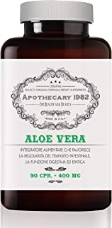Dulàc - Apothecary 1982 - Aloe Vera - 90 Tablets - Detox Action - to Help You Lose Weight (Combined with a Healthy Diet and Physical Activity) - 100% Made in Italy