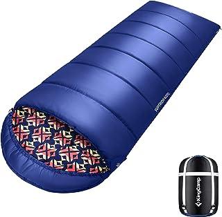 KingCamp(キングキャンプ) シュラフ コンパクト寝袋 軽量 封筒型 丸洗い可能 収納袋付き 最低使用温度-18度