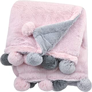 Just Born Boys and Girls Newborn Infant Baby Toddler Nursery Dream Super Soft Plush Receiving Swaddle Blanket, Pink, One Size