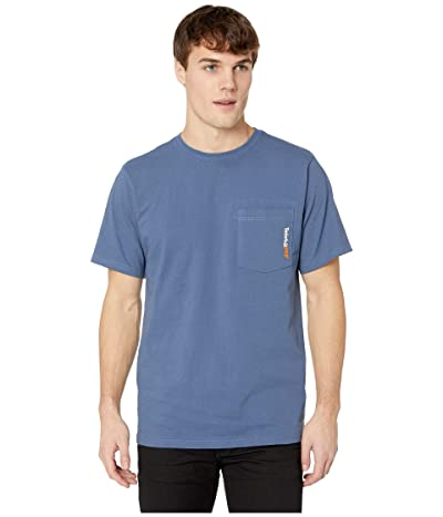 Timberland PRO Base Plate Blended Short Sleeve T-Shirt (Vintage Indigo) Men