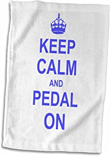 3D Rose Keep Calm and Pedal On-Blue Motivating Carry On Biking Cycling Bicycle Biker Cycler Towel 15