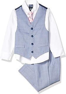 طقم صدرية نوتيكا مكون من 4 قطع مع قميص وربطة عنق وصدرية وبنطال.