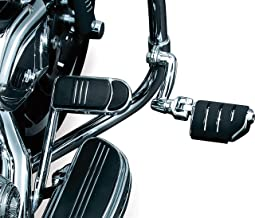 Kuryakyn 7555 Motorcycle Foot Controls: Longhorn Offset Trident Dually Highway Pegs with Magnum Quick Clamps for 1-1/4