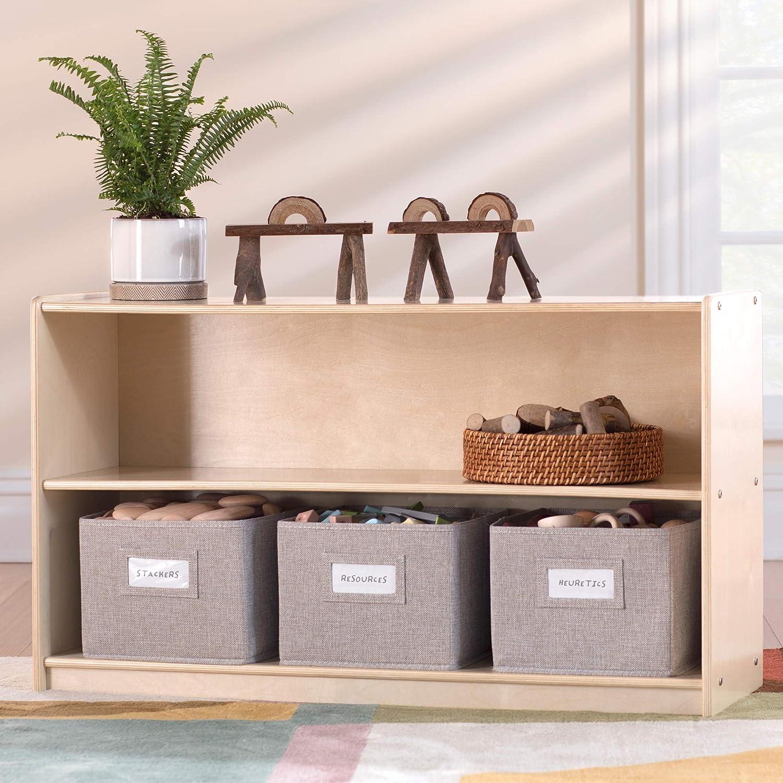 超安い Guidecraft EdQ Essentials Two Shelf Natural Open 24'' Storage wi 1年保証