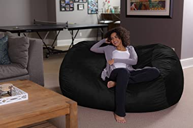 Sofa Sack - Plush Bean Bag Sofas with Super Soft Microsuede Cover - XL Memory Foam Stuffed Lounger Chairs For Kids, Adults, C