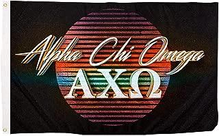 Alpha Chi Omega 80's Letter Sorority Flag Banner 3 x 5 Sign Decor AXO