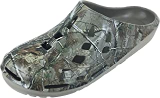 Realtree Men's Camouflage Clog Slip-on Shoe, Size 8 to 13