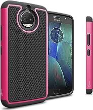 Moto G5S Plus Case, CoverON HexaGuard Series Protective Hybrid Hard Phone Cover for Motorola Moto G5S Plus - Pink