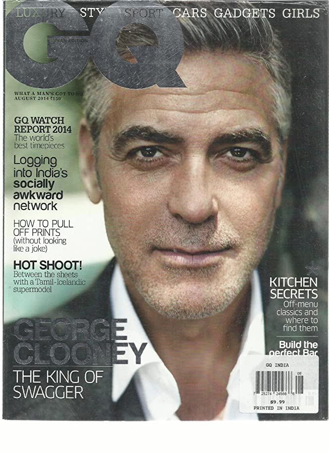 GQ INDIAN EDITION, AUGUST, 2014 VOL. 6 ISSUE, 11 GEORGE CLOONEY THE KING OF SWAG ejldxqfw5882