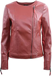 Only Donna Arte-in pelle a breve Giacca onlflora LEATHER BIKER PU Nero Rosso Marrone