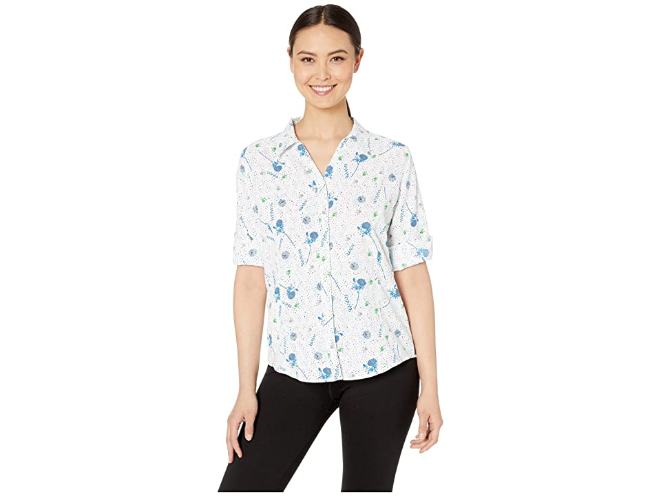 Royal Robbins Expedition Print 3/4 Sleeve Shirt (White Print) Women