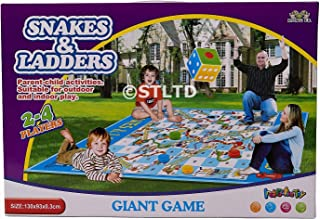 GIANT JUMBO SIZE SNAKES and LADDERS KIDS GARDEN OUTDOOR INDOOR GAME