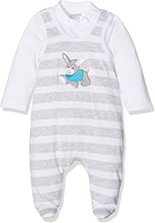 Sterntaler Baby-Jungen Strampler-Set Jersey Erik, Weiß