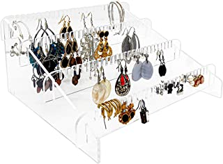 Nanas Display Earring Holder Organizer - Acrylic Earring Holder & Earring Organizer Stand | Earring Rack for Earring Storage