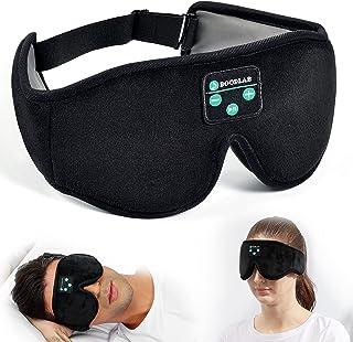 Boodlab - Máscara de dormir con Bluetooth 3D para auriculares de dormir, con altavoces estéreo HD ultrafinos lavables ajustables para dormir en el lado del sueño, yoga, meditación