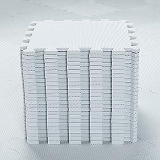 EVA Puzzle Tapis Mousse Bebe - Idéal pour Les Tapis De Jeux Enfant,25 Dalles(30 * 30 * 1cm),Blanc.QQC-Ab25N