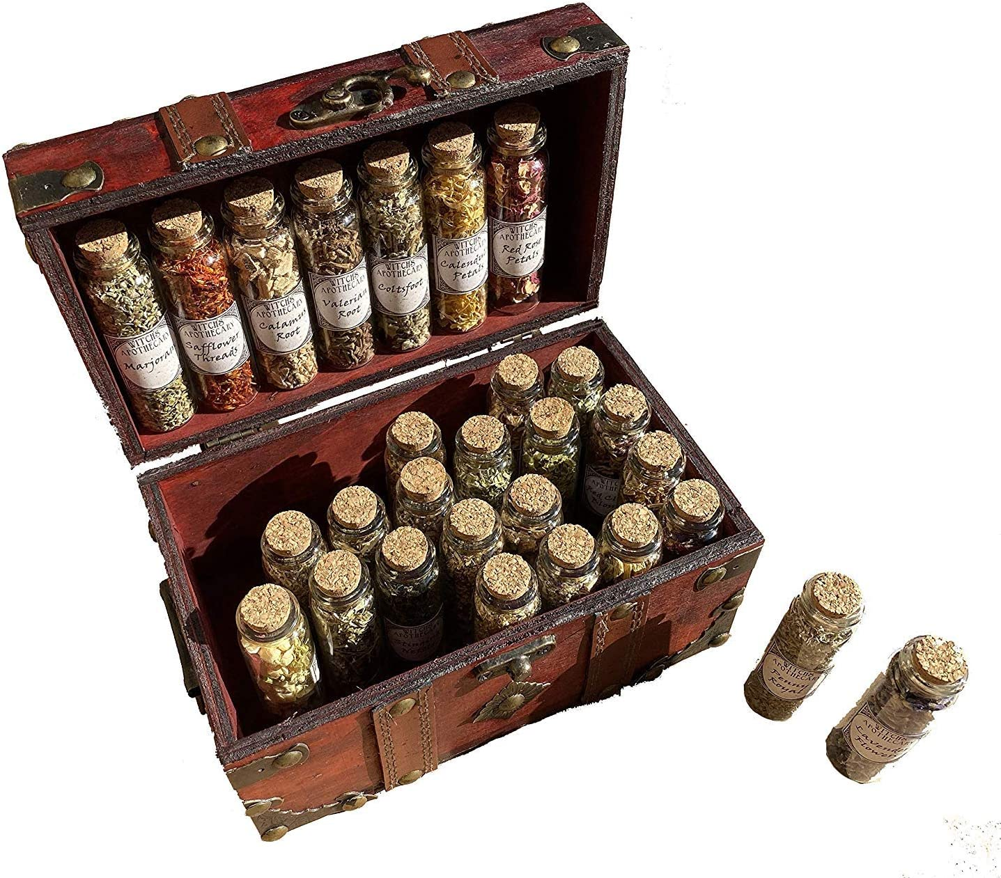 Apothecary Witchcraft Kit Glass Bottles Herbs Wiccan Popular brand in Japan Maker New the world Alta Travel