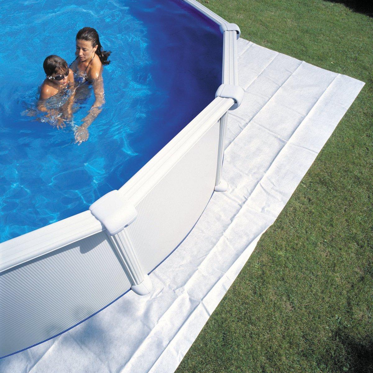 Colchoneta de fieltro para piscina redonda D450 460/Gre: Amazon.es: Jardín