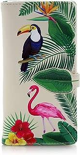 Shagwear Tropical Paradise Large Zipper Women's Wallet (Cream)