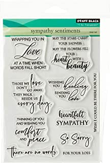 """Penny Black Clear Stamps-Sympathy Sentiments 5""""X6.5"""", Multi"""