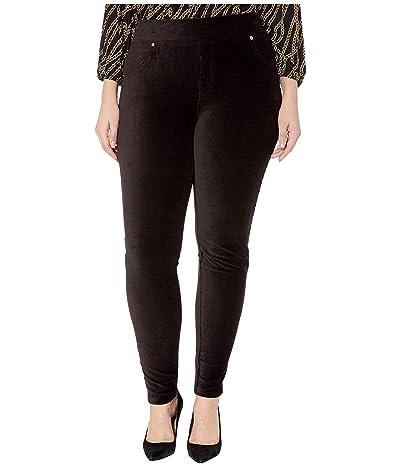 MICHAEL Michael Kors Plus Size Corduroy Pull-On Leggings (Black) Women
