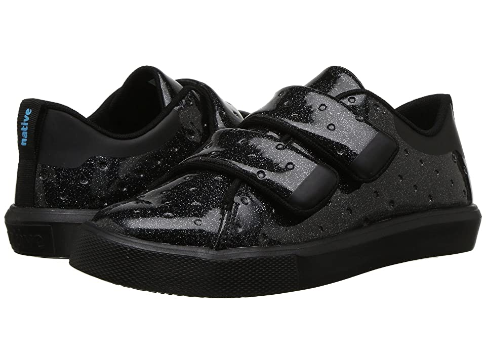 Native Kids Shoes Monaco HL Glitter (Little Kid) (Black Glitter/Jiffy Black) Girls Shoes