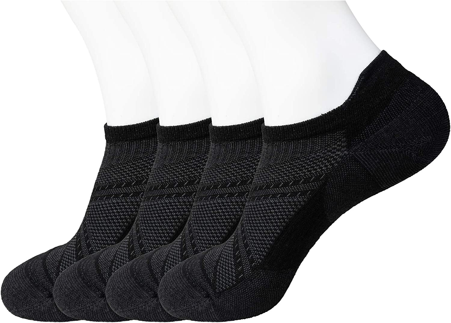 ECOEY ULTIMATE No Show Merino Wool Socks for Men and Women 2//4 Pairs Size 4.5-11.5