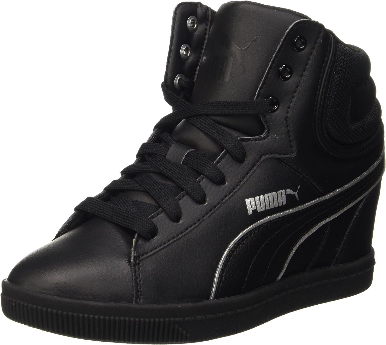 PUMA Vikky Wedge L FS Sneaker à Talon compensé - Noir - Noir ...